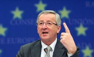 Le président de l'Eurogroupe, Jean Claude Juncker, le 18 mai 2010 à une réunion des ministres des Finances de la zone euro