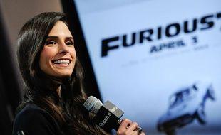 L'actrice Jordana Brewster pendant la promotion du film «Fast & Furious 7», à New York le 3 avril 2015.