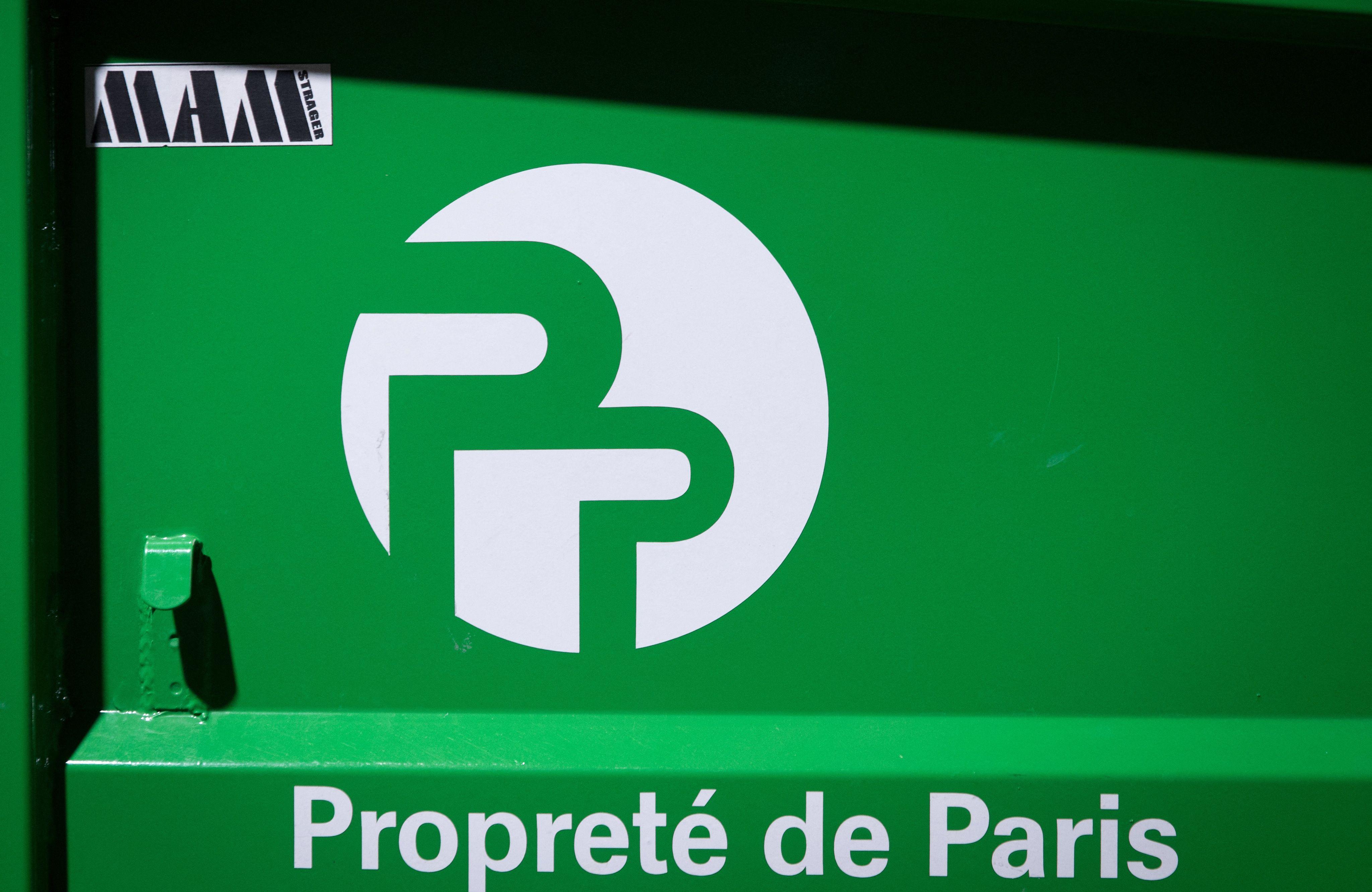 Illustration d'un conteneur de la propreté de Paris.