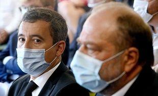 Le ministre de l'Intérieur, Gérald Darmanin avec le ministre de la Justice Eric Dupond-Moretti, le 8 septembre 2020.
