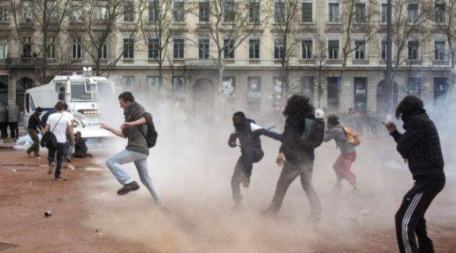Vingt quatre personnes avaient été interpellées le 31 mars à l'issue de la manifestation contre la loi travail à Lyon.  – L. Cipriani / Sipa