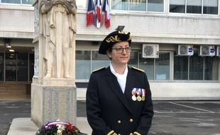 Frédérique Camilleri lors de sa cérémonie d'investiture en tant que préfète de police des Bouhes-du-Rhône