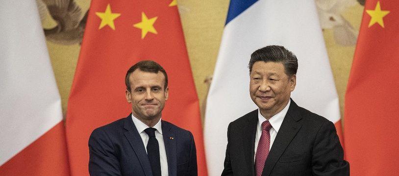 Emmanuel Macron et Xi Jinping à Pékin le 6 novembre 2019.