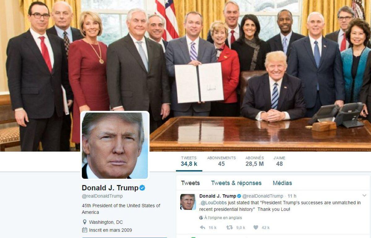 Le compte Twitter de Donald Trump – Capture Twitter