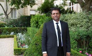 Jean Hugues Ratenon, le député de la France insoumise, devant l'Assemblée nationale le 23 juin 2017.