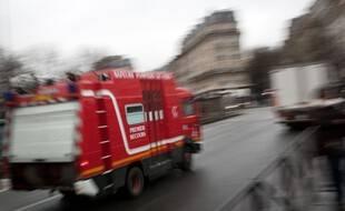Un camion des pompiers de Paris. (illustration)