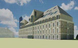 Le bâtiment du mess des officiers de la ZAC Bastide-Niel, accueillera l'école de commerce Essca
