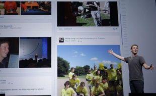Mark Zuckerberg, le patron de Facebook, présente sa Timeline à San Francisco, en septembre 2011.