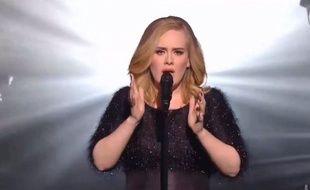 Adele aux NRJ Music Awards, le 7 novembre 2015.