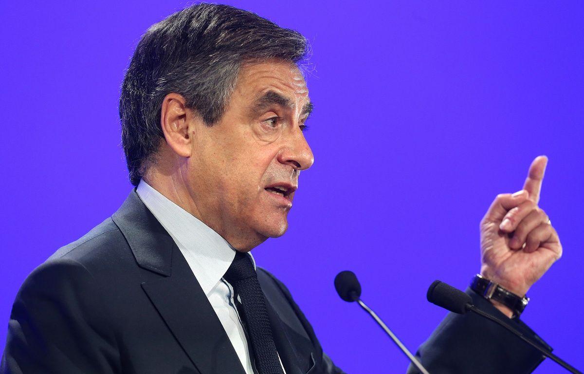 François Fillon en meeting à Compiègne (Oise le 15 fevrier 2017.  – FRANCOIS NASCIMBENI / AFP