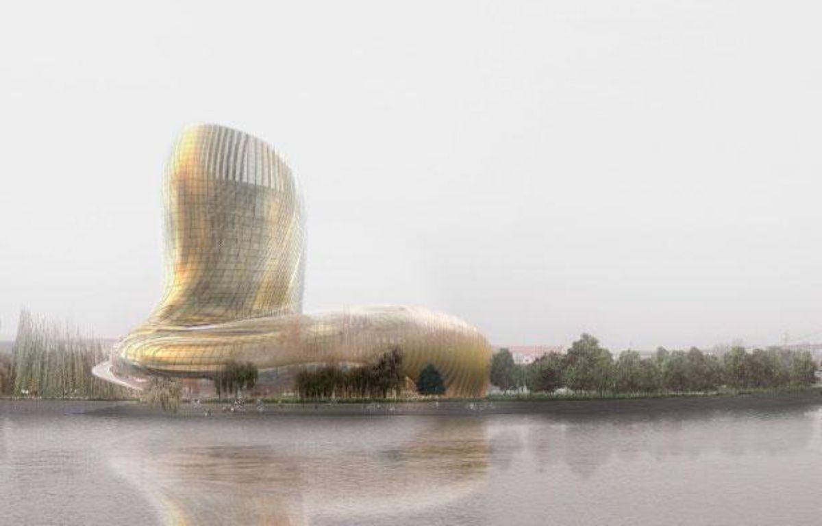 Le bâtiment du futur centre culturel et touristique du vin à Bordeaux – DR