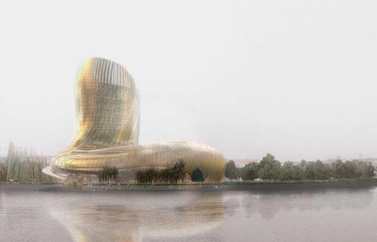 Le bâtiment du futur centre culturel et touristique du vin à Bordeaux