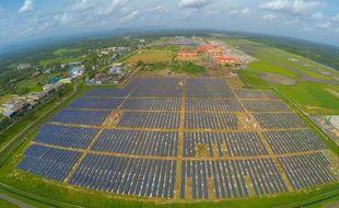 Le parc photovoltaïque de l'aéroport Cochin International, en Inde.