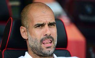 Pep Guardiola, l'entraîneur de Manchester City, le 26 août 2017.