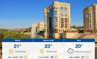 Météo Montpellier: Prévisions du samedi 25 septembre 2021