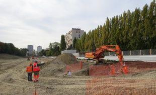 Les travaux du futur Tramway T4 ont été lancés officiellement ce mardi 18 octobre à Clichy-sous-Bois.