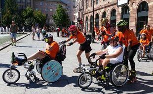 Strasbourg: Quand une randonnée en roller veut faire avancer l'accessibilité des personnes handicapés