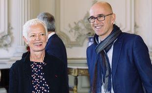 Frédéric Bierry, président du conseil départemental du Bas -Rhin, avec Brigitte Klinkert, présidente du conseil départemental du Haut-Rhin. Illustratio