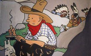 La couverture originale de «Tintin en Amérique» a été adjugée pour 1,3 millions d'euros le 2 juin à Paris.
