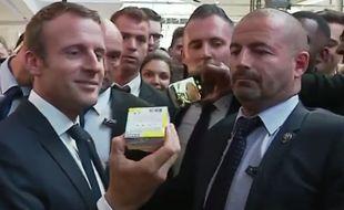 Emmanuel Macron lors de l'inauguration de Station F, à Paris.
