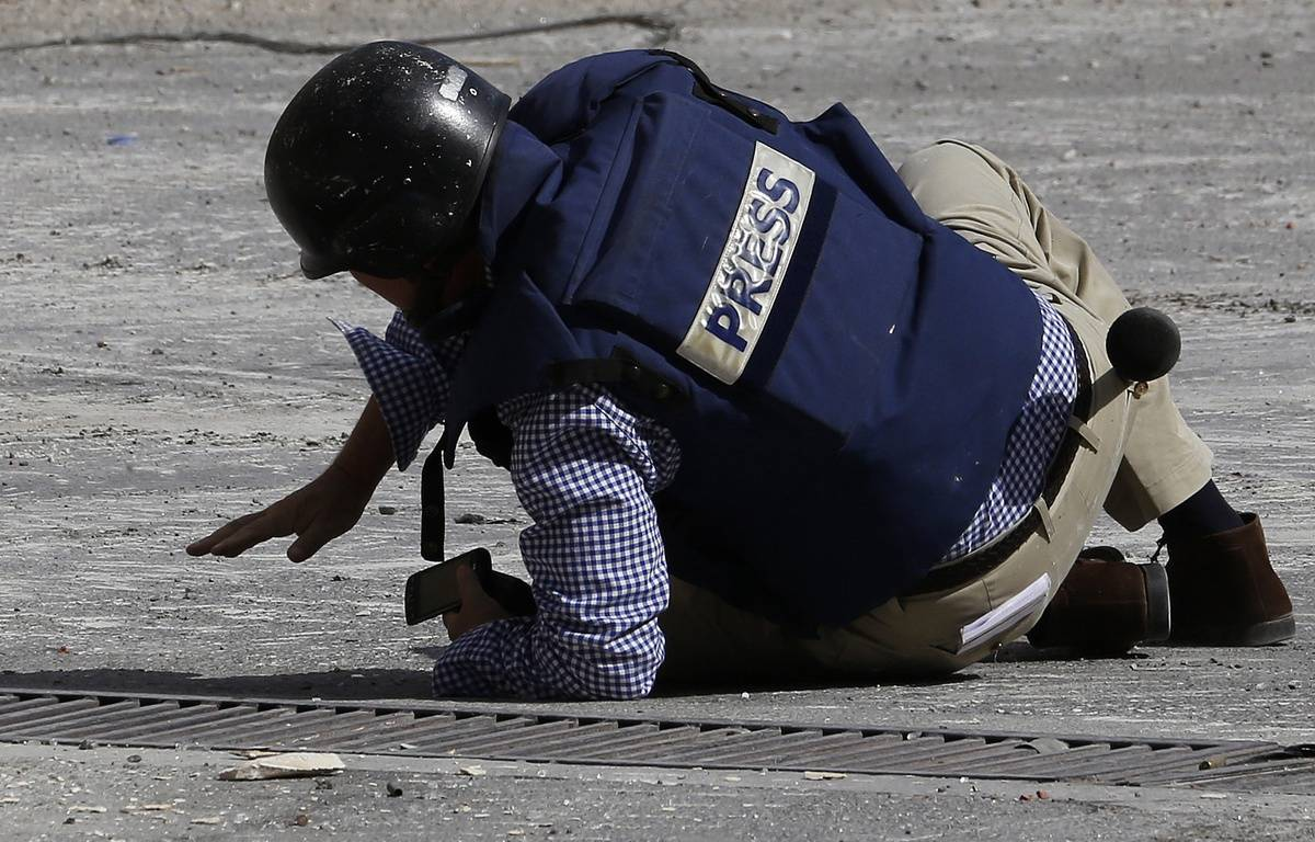 Le journaliste de l'AFP Sammy Ketz à Maalula, en Syrie, le 18 septembre 2013. – ANWAR AMRO / AFP