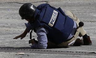 Le journaliste de l'AFP Sammy Ketz à Maalula, en Syrie, le 18 septembre 2013.