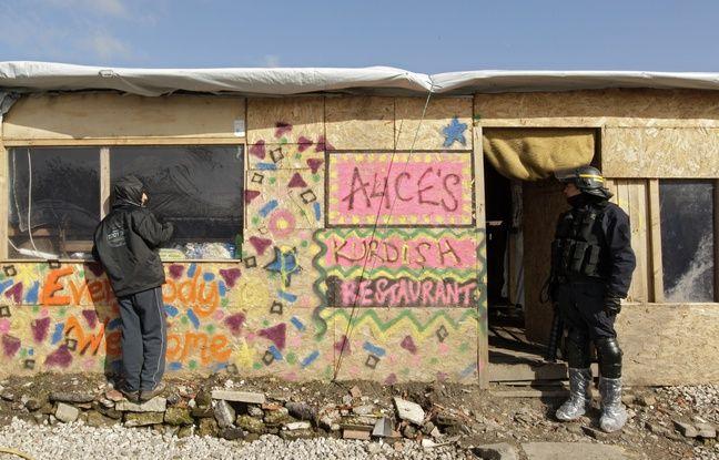 Un «restaurant» kurde situé dans la «jungle» de Calais.