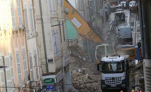 Peu après l'effondrement des immeubles de la rue d'Aubagne, à Marseille, en novembre 2018. (archives)