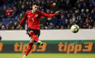 L'attaquant Adrian Grbic, ici sous le maillot de l'équipe nationale d'Autriche, a été recruté par le FC Lorient.