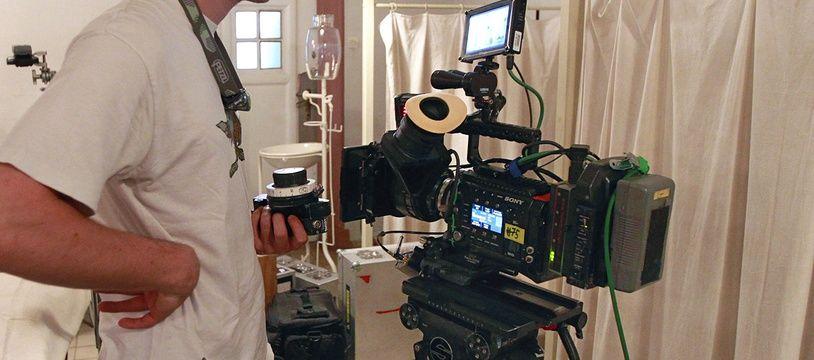 Un tournage de cinéma (illustration).