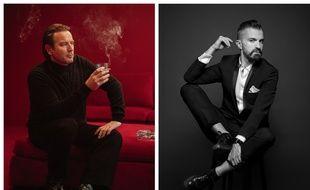 Ewan McGregor dans « Halston » et le couturier Julien Fournié.