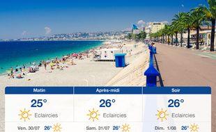 Météo Nice: Prévisions du jeudi 29 juillet 2021