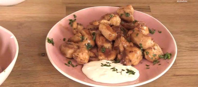Le poulet au miel et au soja de Papilles et Pupilles.
