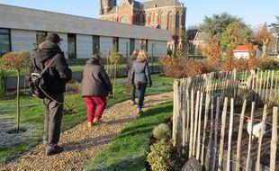Le jardin pédagogique de l'hôpital psychiatrique de Saint-André, près de Lille.