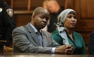 Kenneth Thompson et Nafissatou Diallo lors d'una audience le 10 décembre 2012 au tribunal à New York