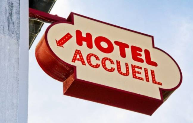 648x415 panneau indique accueil hotel illustration