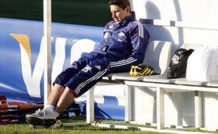 Robert Duverne alors préparateur physique de l'équipe de France de football, le 20 juin 2006 à Knysna.