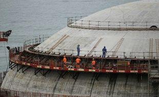 L'EPR en construction à Flamanville, le 30 mars 2016.