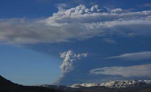 Le volcan Grimsvoetn est entré en éruption le 21 mai 2011, dans le sud-est de l'Islande