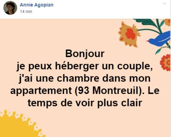 De nombreuses personnes proposent d'héberger à titre gracieux les habitants de Rouen désirant quitter la ville.