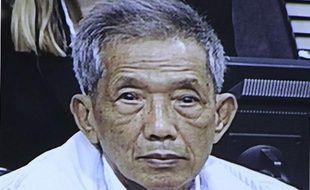 Kaing Gek Eav, alias «Douch», l'ex-chef de la prison de Phnom Penh (Cambodge) sous le régime des Khmers rouges (1975-79), le 3 février 2012.