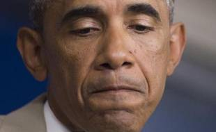 """Barack Obama en conférence de presse à Washington le 28 aout 2014 a reconnu sans détour que les Etats-Unis n'avaient """"pas encore de stratégie"""" et n'étaient pas prêts à ce stade à attaquer l'Etat islamique (EI) en Syrie"""