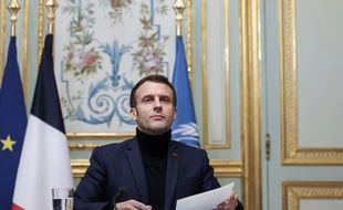 Emmanuel Macron, le 2 décembre 2020 à l'Elysée.