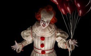 Haytham Mathern déguisé en Pennywise, le clown du film « Ça ».