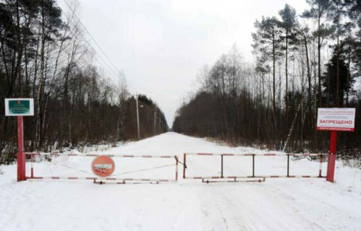 Le site de stockage de déchets toxiques de Krassni Bor, près de Saint-Pétersbourg en Russie, le 21 février 2016 – OLGA MALTSEVA AFP