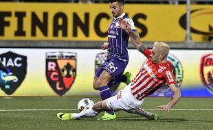 L'attaquant du TFC Corentin Jean lors du match de Ligue 1 à Nancy, le 25 février 2017.
