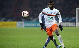 L'attaquant Mbaye Niang lors du match entre Montpellier et le PSG le 22 janvier 2014.