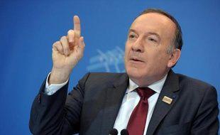 Pierre Gattaz, le 18 février 2014, lors d'une conférence de presse à Paris