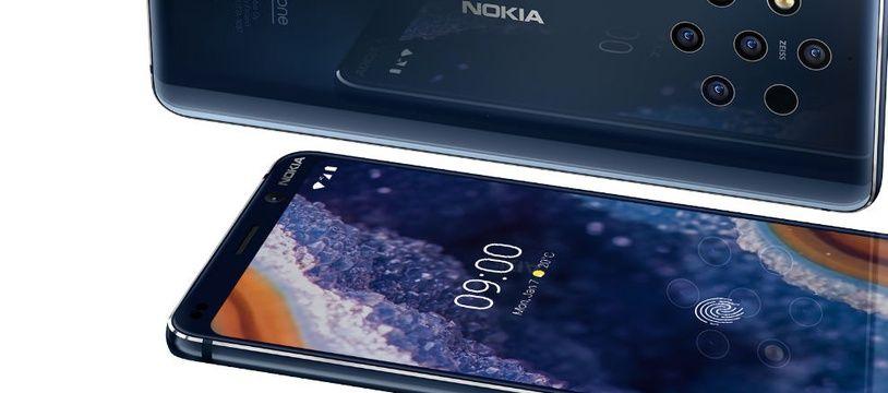 Le Nokia 9 PureView et ses cinq capteurs photo  à l'arrière.