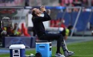 Thomas Tuchel a longtemps prié sur son banc face à l'Atalanta Bergame.